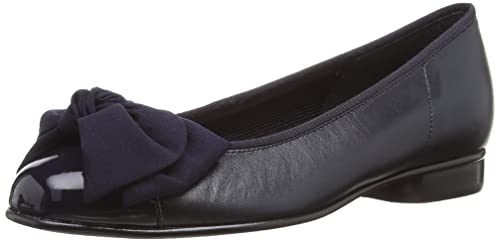 Gabor Amy, Women's Ballet Flats, Blue Leather/Patent, 2.5 UK