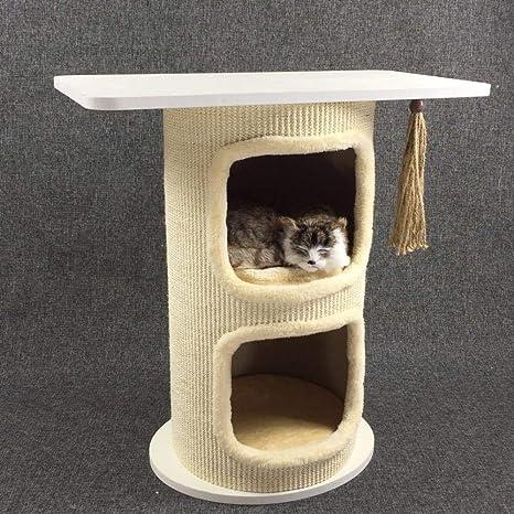 Daeou Árbol para Gatos rascador Gato hogar Mesa Gato Muebles Mascotas Gato Juguete sisal Cubo Gato