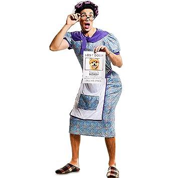 Eurocarnavales Herren Kostüm Verzweifelte Oma Sucht Hündchen Gr Ml