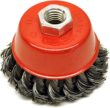 """75mm for 4-1//2/"""" 115mm 2 Wire Cup Brush Wheel 3/"""" Angle Grinder Crimped Cup"""