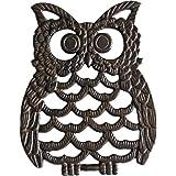 Cast Iron Owl Trivet - Decorative Trivet For Kitchen Counter or Dining Table Vintage, Rustic, Artisan Design - 7.75X6…
