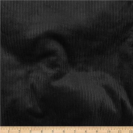 Lavado De Pana 8 Negro material de tela de algodón elástico Wale