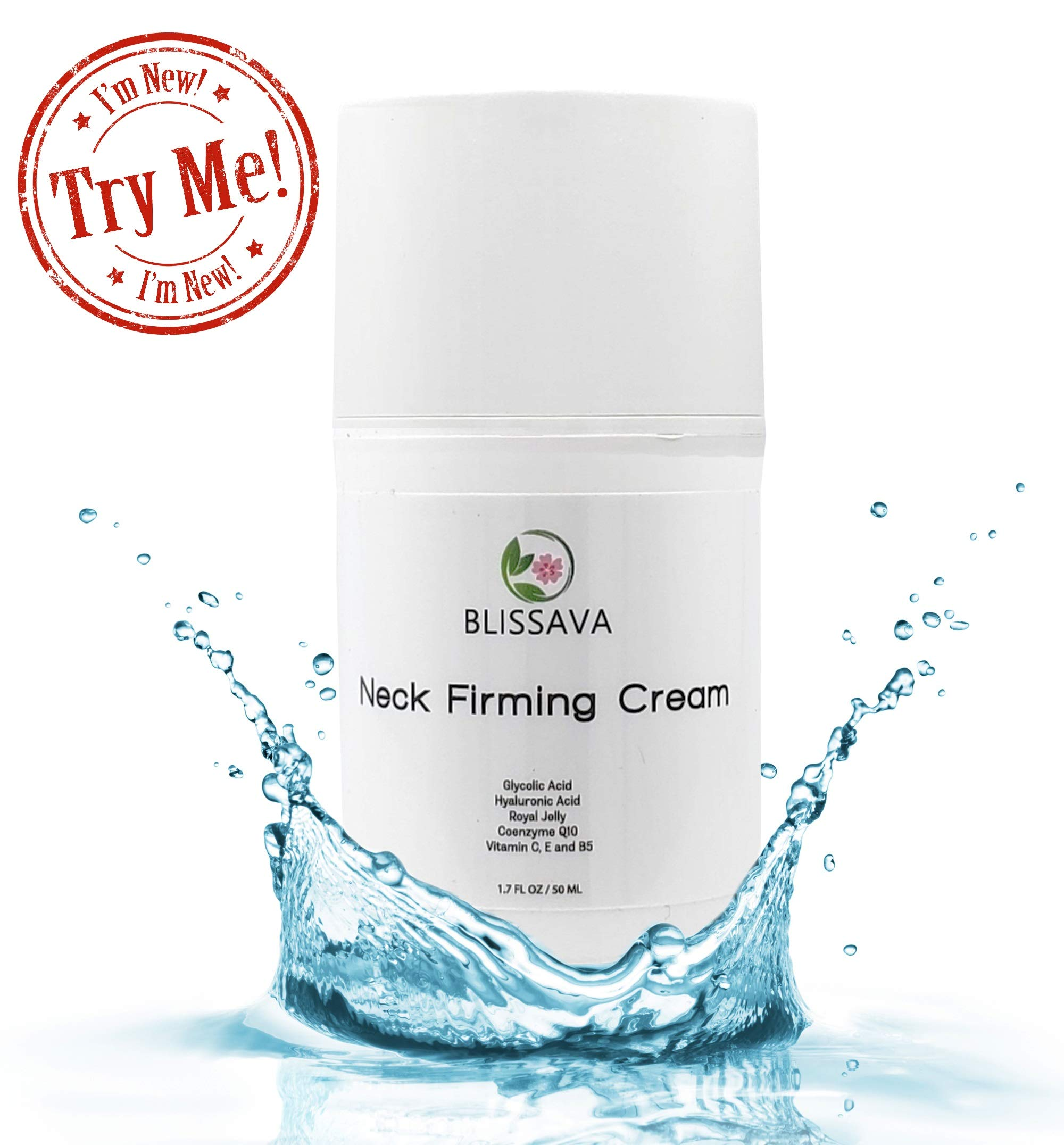 Turkey Neck Cream for Crepey Skin - Neck Firming Cream for Double Chin and Sagging Skin - Anti Aging Skin Tightening Cream for Face Neck and Decollete for Men and Women by Blissava