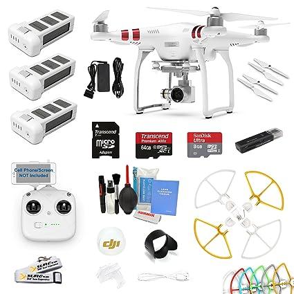 Amazon com : DJI Phantom 3 Standard Drone Quad Copter W/ 2 7