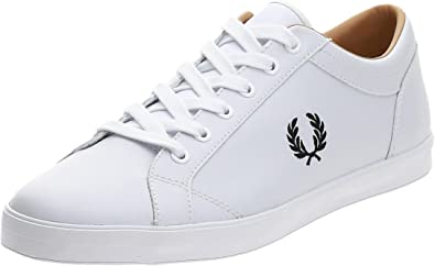 Fred Perry Baseline Leather Mens White