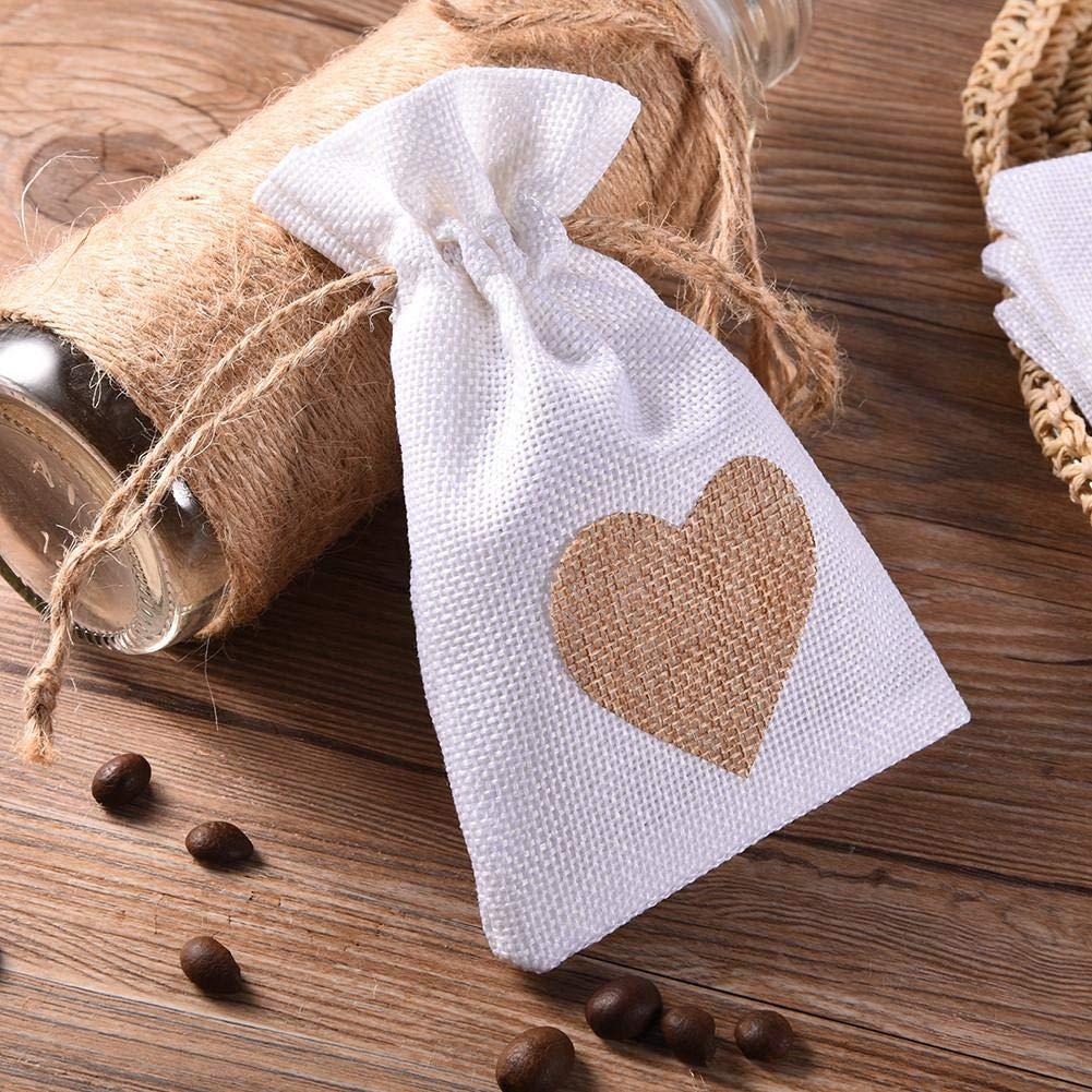 bolsa de lino corazón