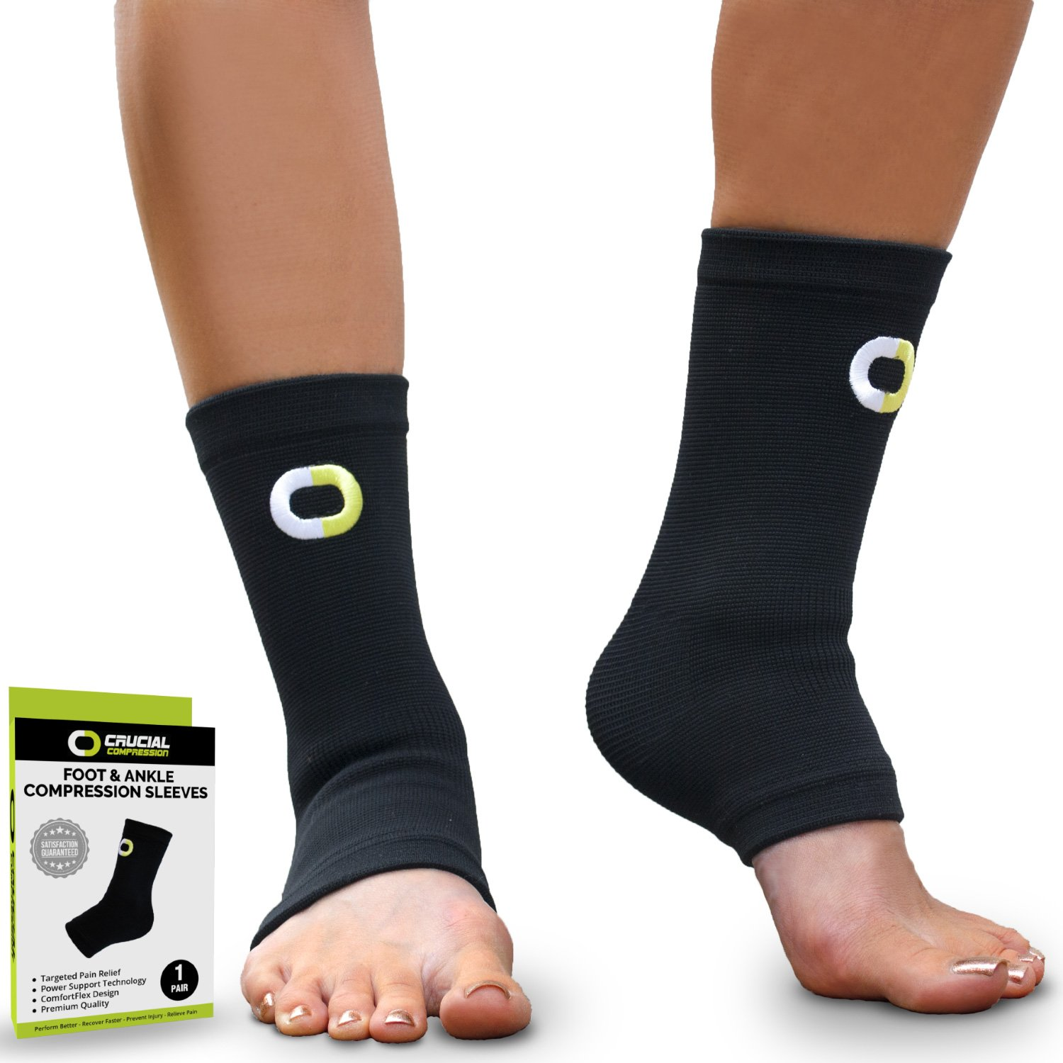 Details about NEW Ankle Compression Sleeve Pair Brace Support Running Socks  Men Women 427d8dcf1f