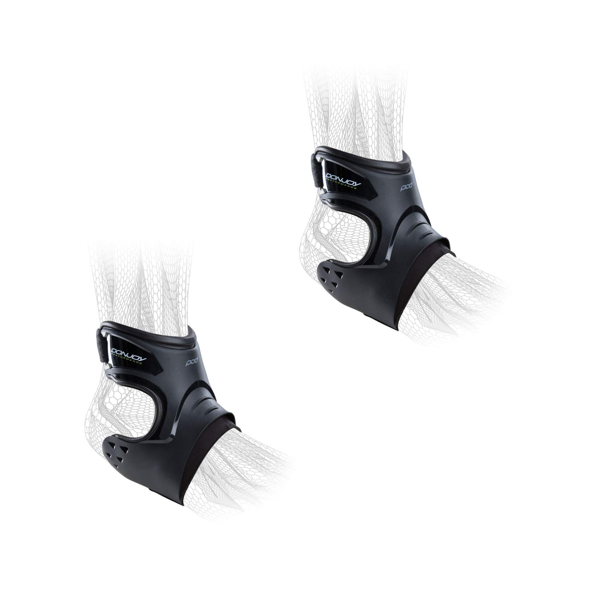 DonJoy Performance POD Ankle Brace Pair - Right and Left - Black - Small - Value Bundle