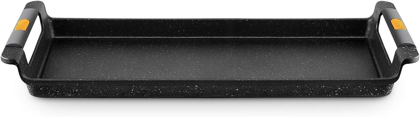 Castey Vassoio Grill adatto a induzione Nero 35 cm