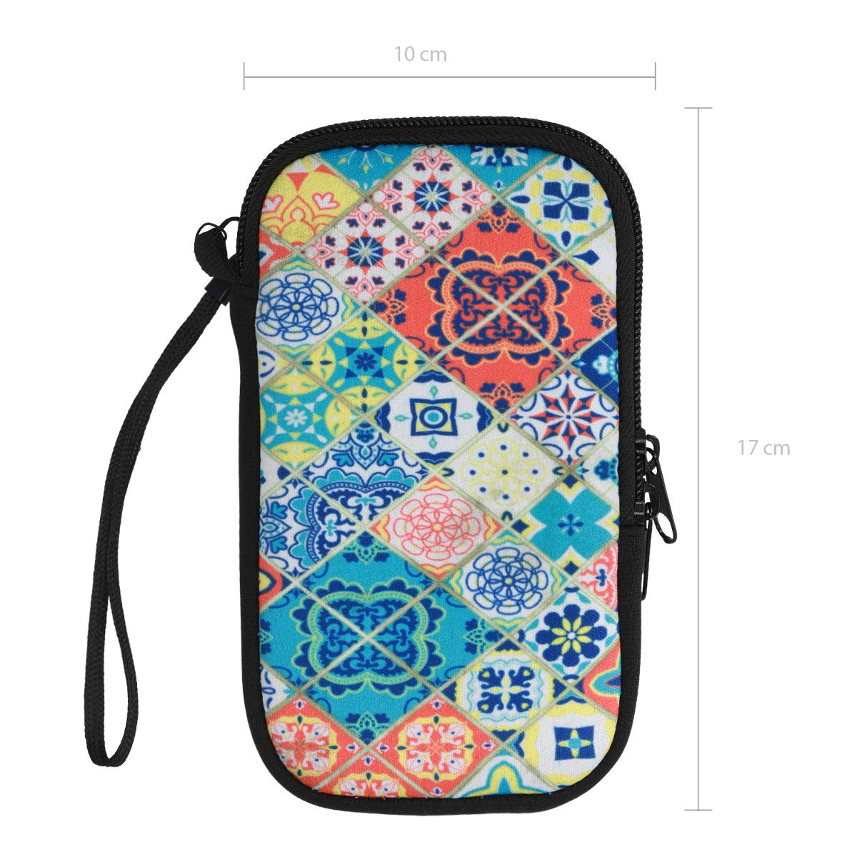 6,5 Dont Touch My Phone Design Wei/ß Dunkelgrau kwmobile Handytasche f/ür Smartphones L Handy Filztasche 16,2 x 8,3 cm Innenma/ße