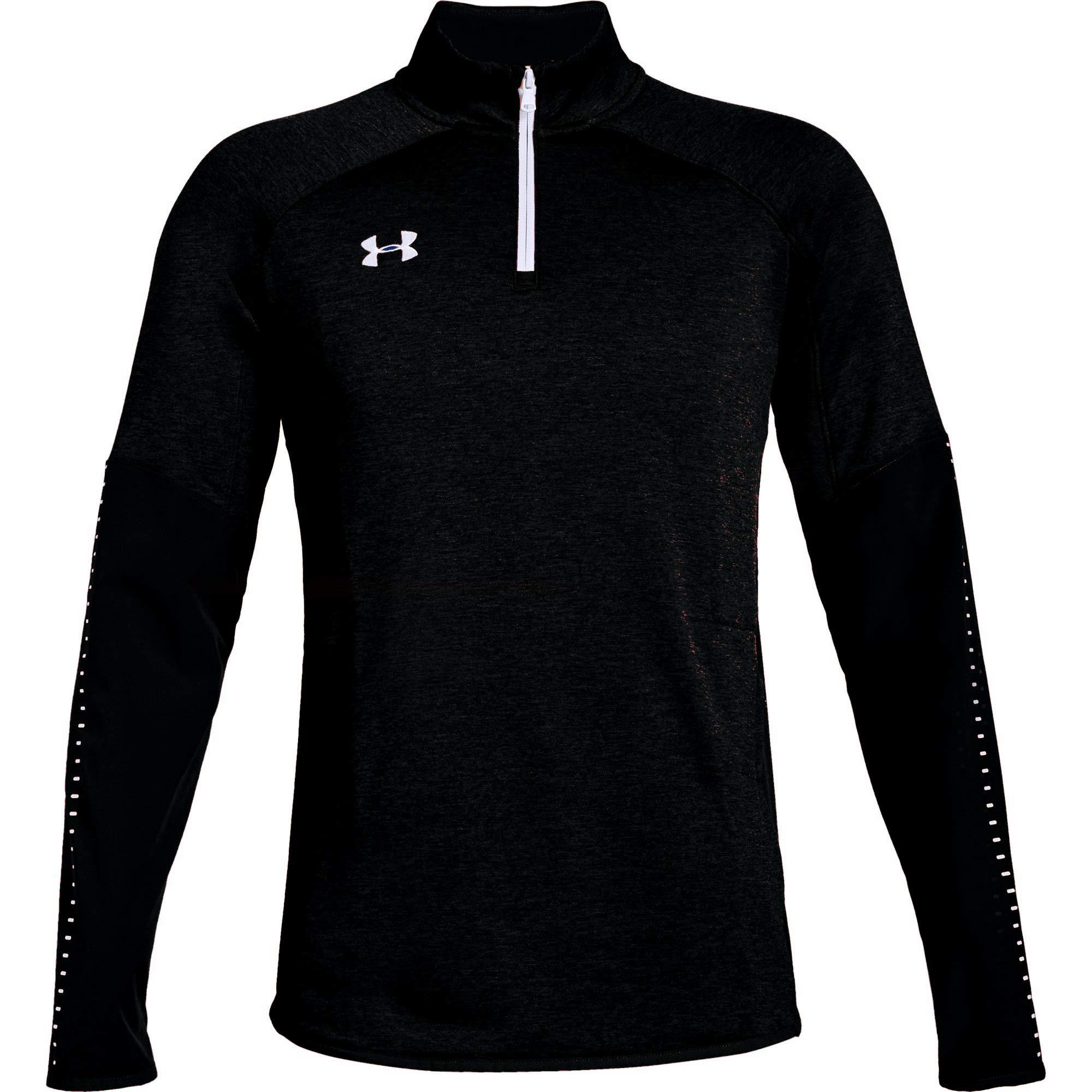 Under Armour Men's UA Qualifier Hybrid 1/4 Zip Long Sleeve (Small, Black)