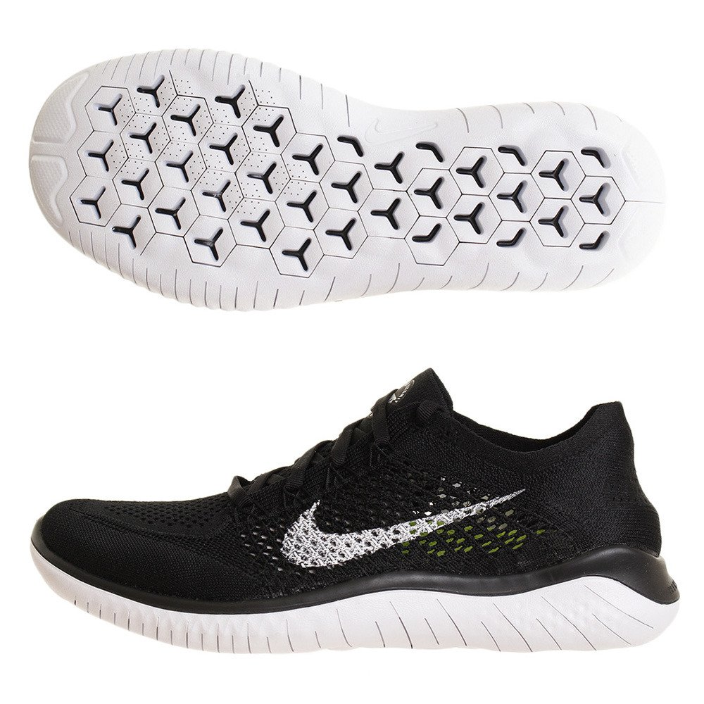 promo code d7736 9ed96 Amazon.com   Nike Free Rn Flyknit 2018 Mens 942838-001 Size 6.5 Black White    Road Running
