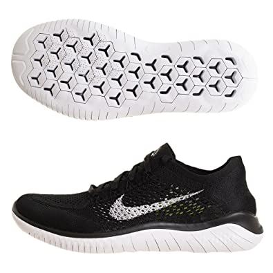 on sale fe21a b973e Nike Mens Free Rn Flyknit 2018 Running Shoes, (BlackWhite 001) 6