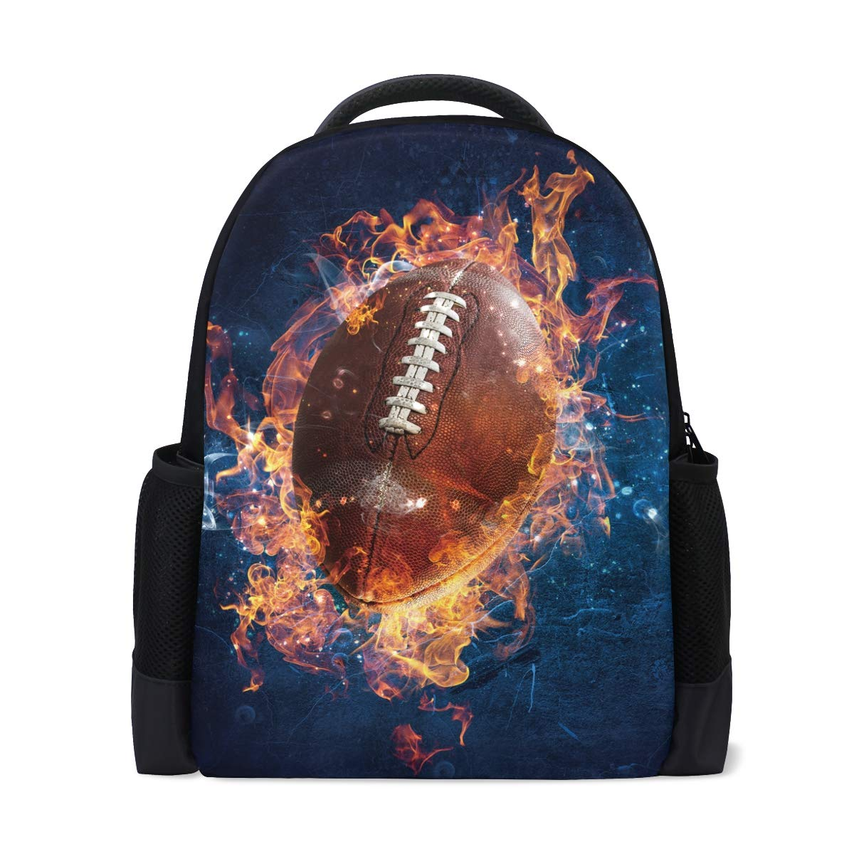 45c28ce069 Amazon.com  Spirit of Flaming American Football Student Backpack ...