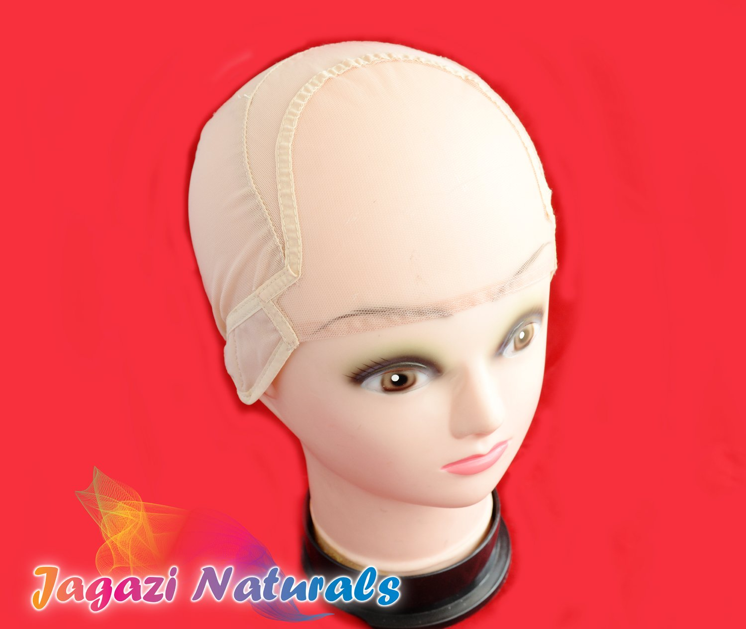 Snuggle Glueless Full Lace Wig Making Cap. Wig Cap. Weaving Mesh Net With Strap (Small)