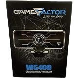 CAMARA WEB GAME FACTOR WG400 1080P LED HD USB NEGRA