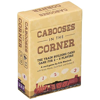 Cabooses in The Corner - The Quick Train Building Card Game for 2 to 6 Players: Toys & Games