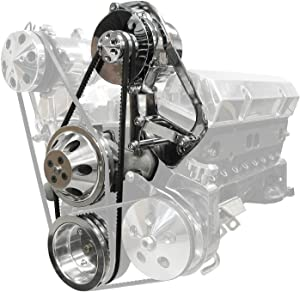 BRAND NEW SOUTHWEST SPEED POLISHED FRONT ENGINE KIT,POWERMASTER ALTERNATOR WITH V-BELT PULLEY & 100 AMP HIGH VOLUME FAN,WATER PUMP,WATER PUMP & CRANKSHAFT PULLEY,COMPATIBLE WITH SMALL BLOCK CHEVY