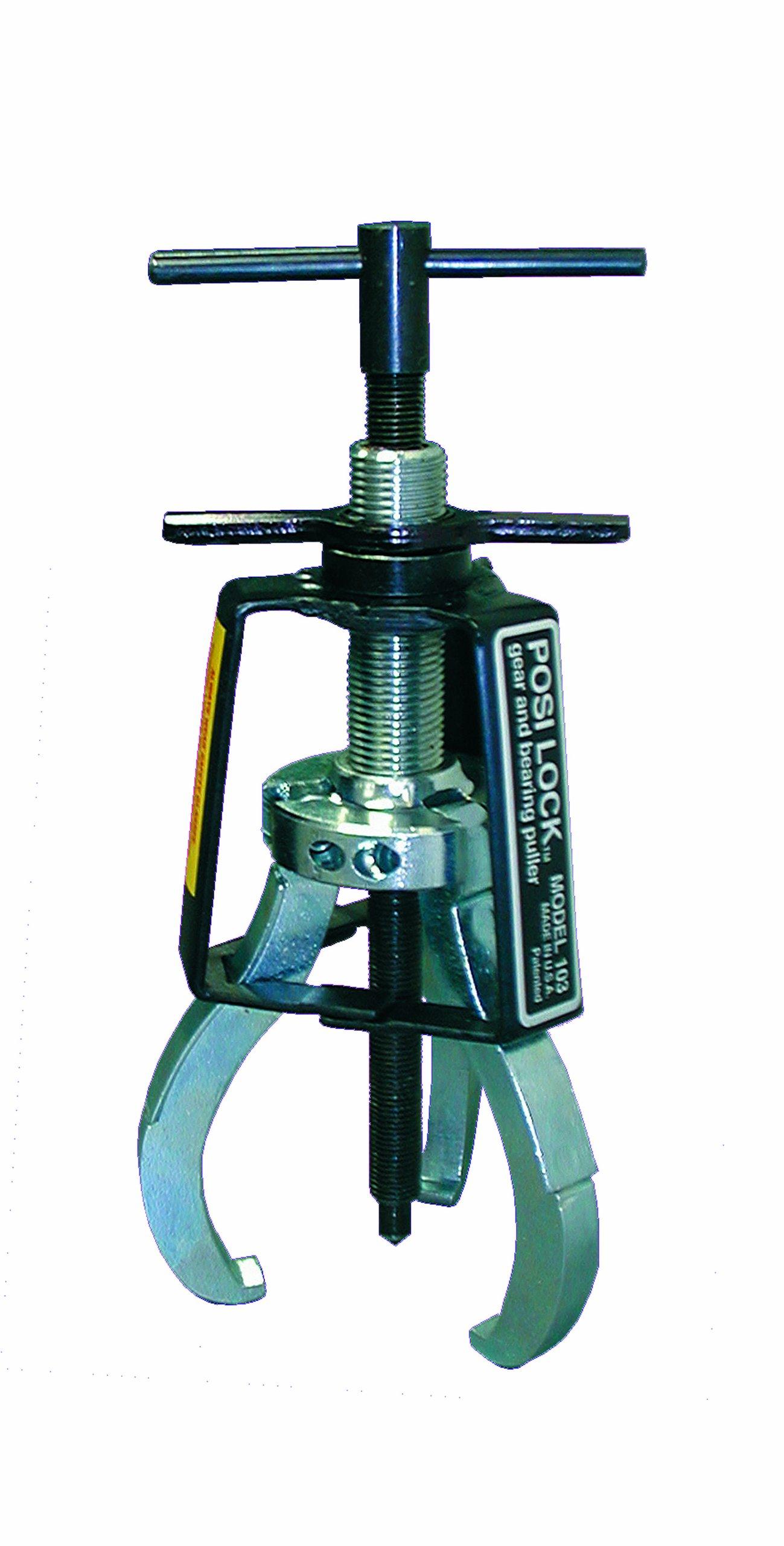 Posi Lock 102 Manual Puller, 3 Jaws, 1 ton Capacity, 2-1/4'' Reach, 1/4'' - 3-1/4'' Spread Range, 5-1/2'' Overall Length