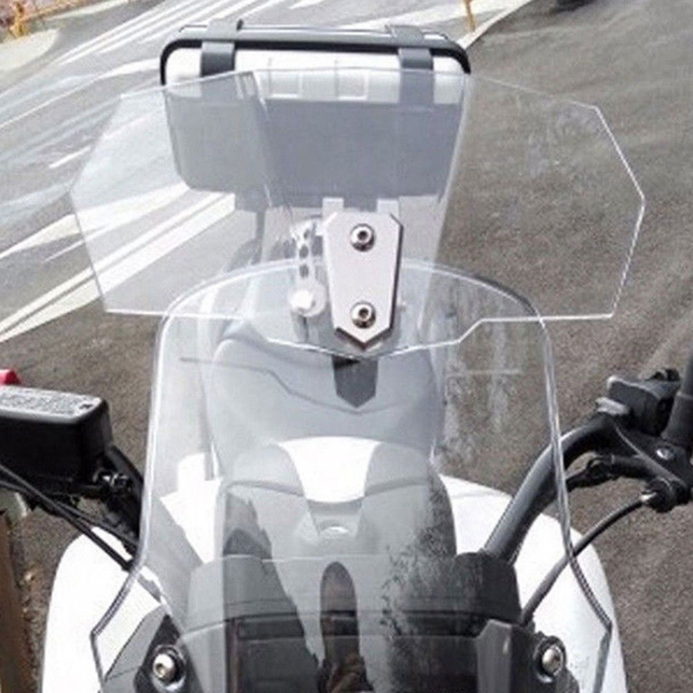 MAyouth Universal Motorcycle Adjustable Clip-On Windshield Extension Spoiler Windscreen Accessories Motorbike Windscreen