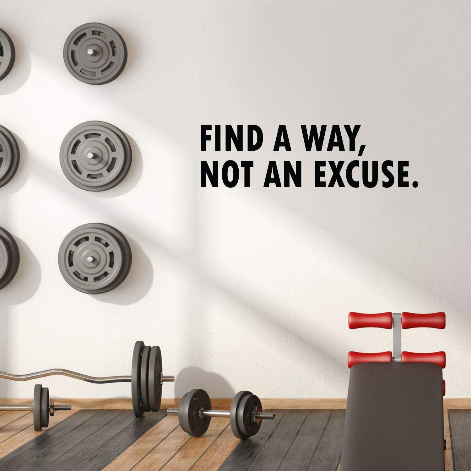 Vinyl Wall Art Decal - Find a Way Not an Excuse Motivational Quote - 11