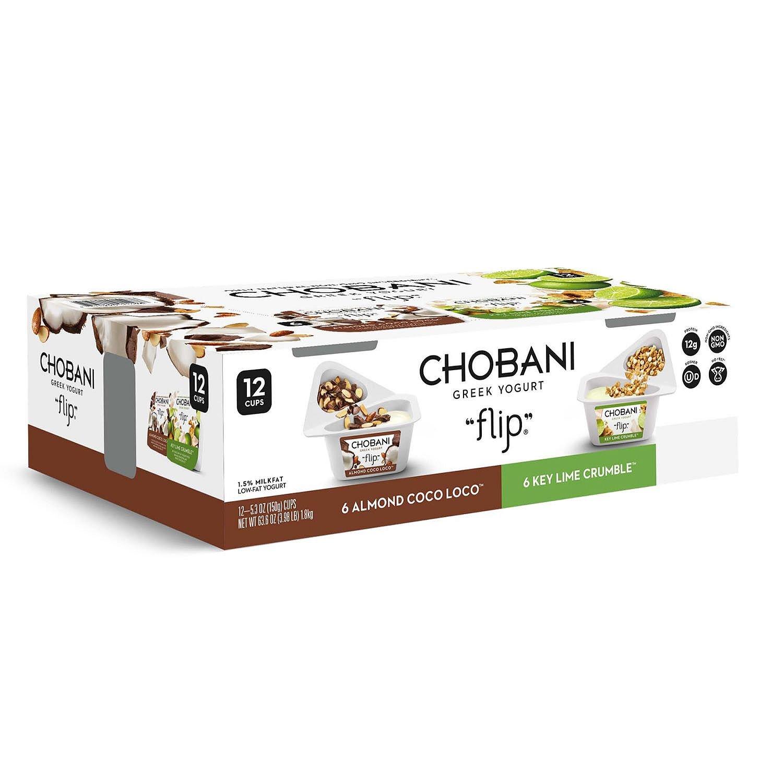 Chobani Flip Almond Coco Loco and Key Lime Crumble Greek Yogurt (12 ct.)