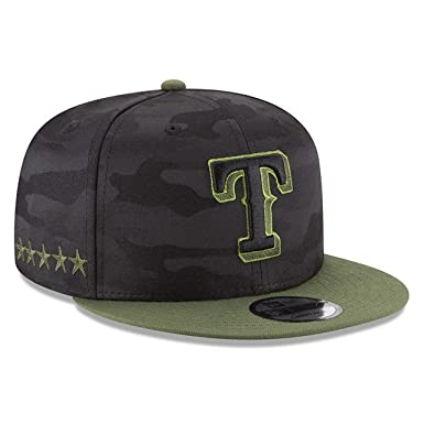 finest selection e7e0e 679db Image Unavailable. Image not available for. Color  New Era Texas Rangers  Memorial Day Snapback Cap ...