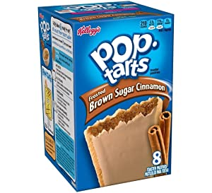 Kellogg's Pop-Tarts Frosted Brown Sugar Cinnamon Toaster Pastries 8 ct (Pack of 12)