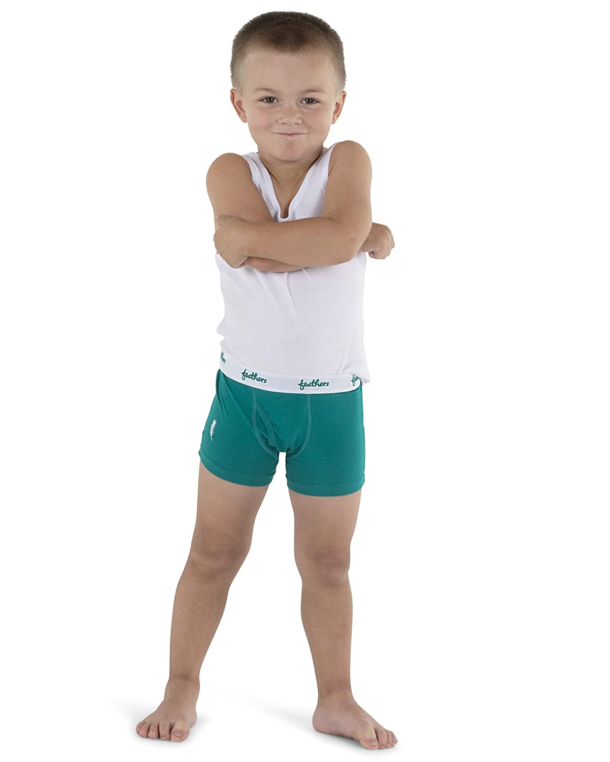 3//pack Feathers Boys Cotton Strech Tagless Boxer Underwear