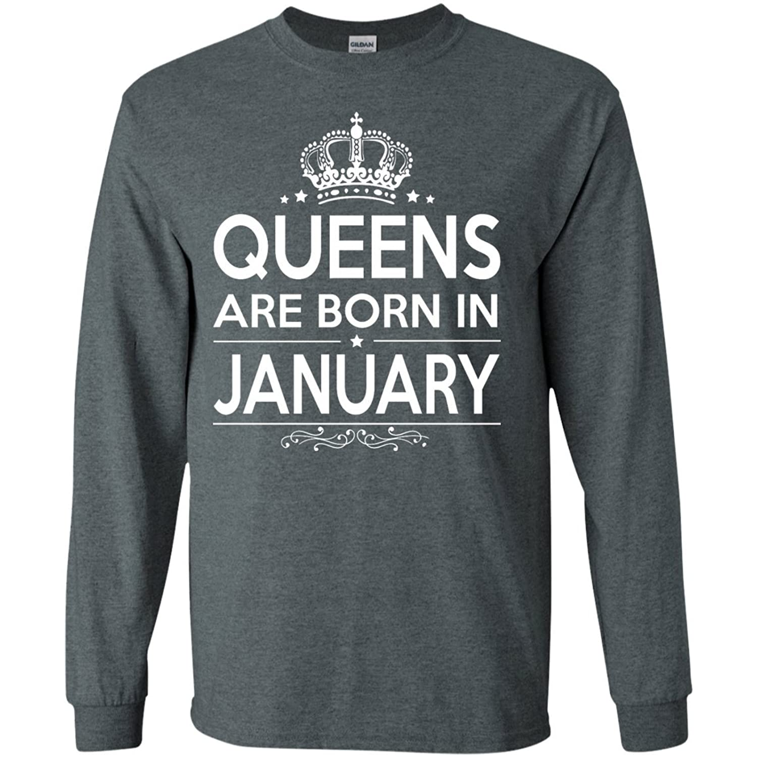 Kings Are Born In January Long Sleeve