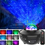 GeMoor Star Projector Night Light Projector Ocean Wave Projector Night Light Projector with Bluetooth Music Speaker for Baby Kids Bedroom/Game Rooms/Home Theatre/Night Light Ambiance