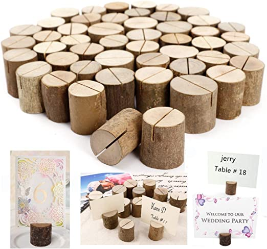 Dproptel - Soporte rústico de madera para números de mesa de boda ...