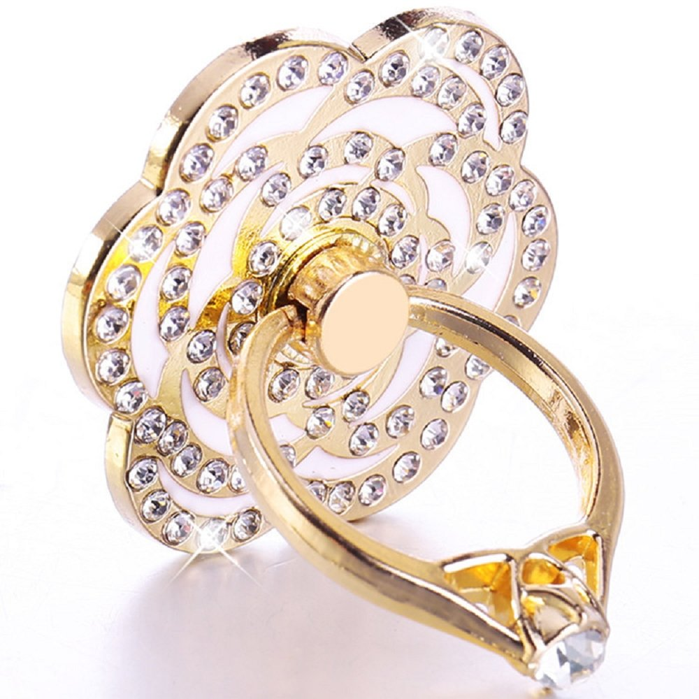 Universal Phone Ring Bracket Holder Ucll Diamond Miibox I Handphone Stand As Love Heart Shape Finger Grip