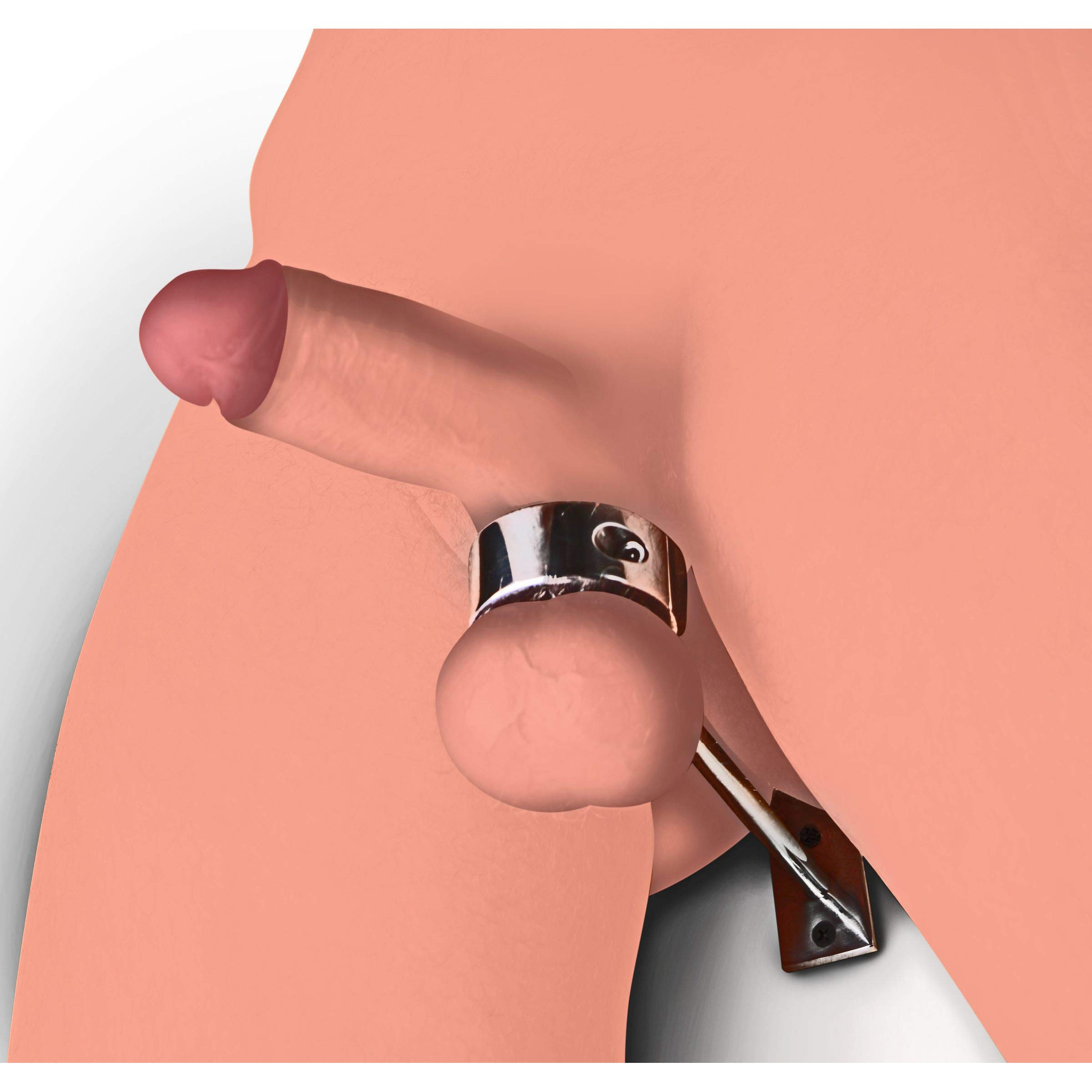 Master Series Locking Mounted CT Scrotum Cuff with Bar by Master Series