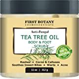 100% Natural Tea Tree Oil Body & Foot Scrub with Dead Sea Salt - Best for Acne, Dandruff and Warts, Helps with Corns, Calluse