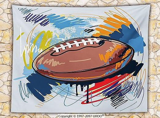 Deportes Decor manta de forro polar pelota de rugby Sketch con ...