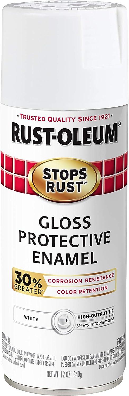 Rust-Oleum 3389286-PK Stops Rust Advanced Spray Paint, 6 Pack, Gloss White