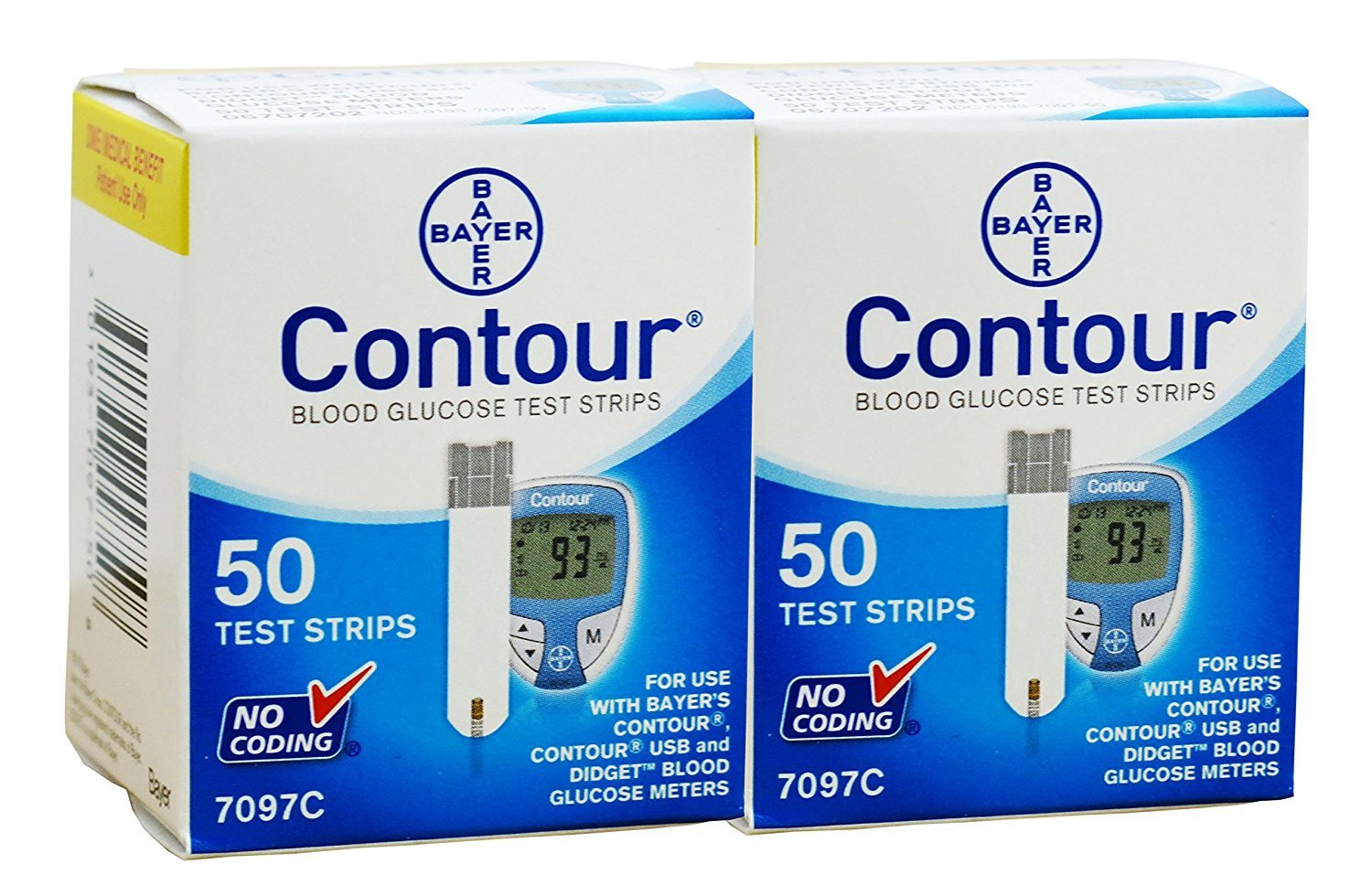 Bayer Contour 100 Test Strips 2 Boxes of 50's Exp Year or More by Contour