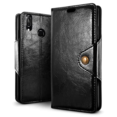 new products dd90b af600 SLEO Case for Vodafone Smart X9 Case, Retro PU Leather Wallet Folio Flip  Case Cover with Anti-Scratch TPU Kickstand Holder and Card Slots for  Vodafone ...