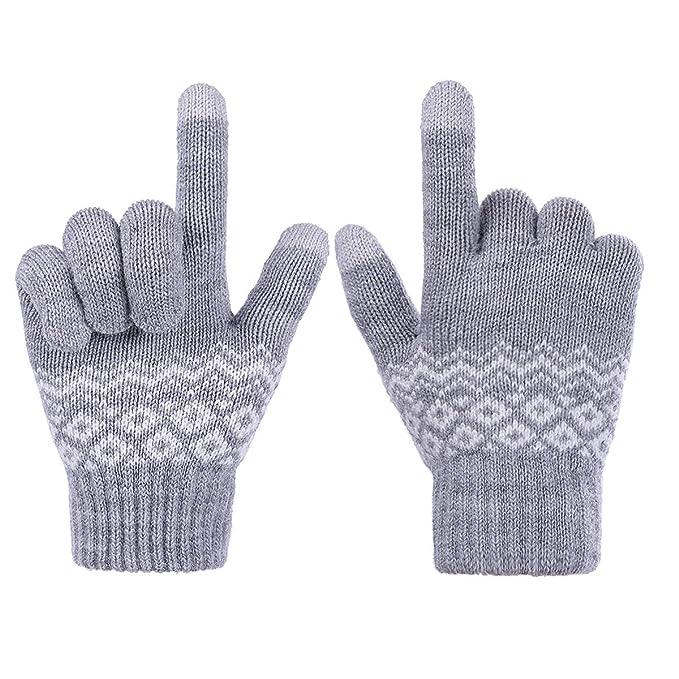 a697f11b0af97f Sholov Handschuhe Winterhandschuhe Touchscreen Handschuhe Damen Gestrickte Warme  Handschuhe Winter Spazieren Wandern Arbeiten Freizeit Warmes Winter