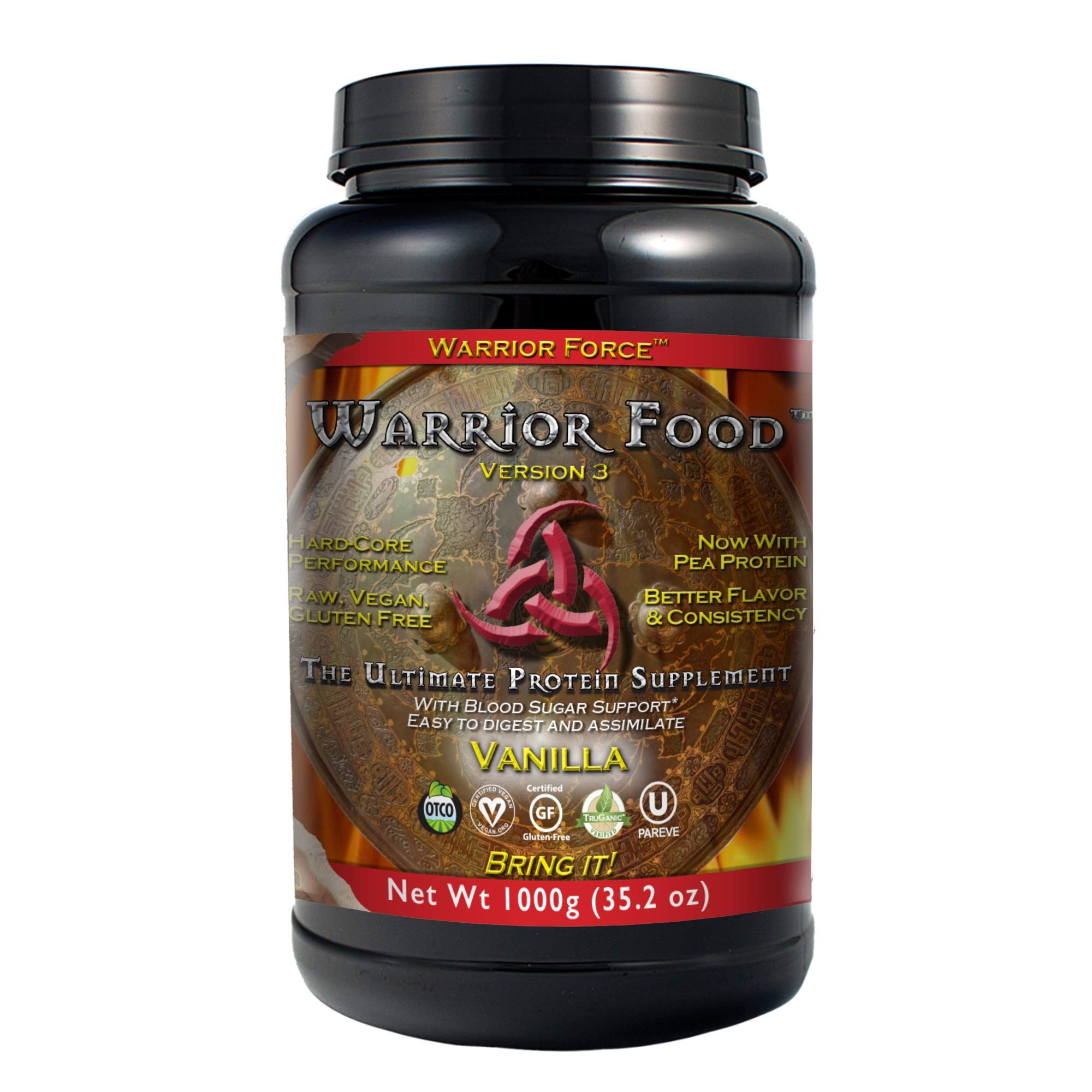 HealthForce SuperFoods Warrior Food, Vegan Protein Powder, Sports Nutrition Alternative, Plant-Based, All Natural, Organic, Gluten-Free, Vanilla, 1000 Grams by HEALTHFORCE SUPERFOODS