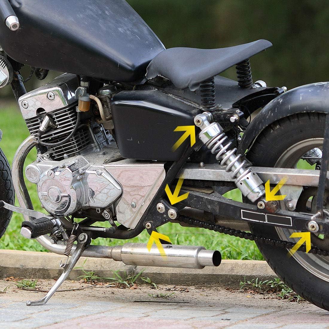 sourcing map 20Pcs M6x30 Tornillos de Fijaci/ón Dorado Titanio Perno Hexagonal de Moto Modificaci/ón