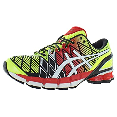 new styles 934c3 ec995 ASICS Men s Gel Kinsei 5 Running Shoes T3E4J-9001 Black White Red (
