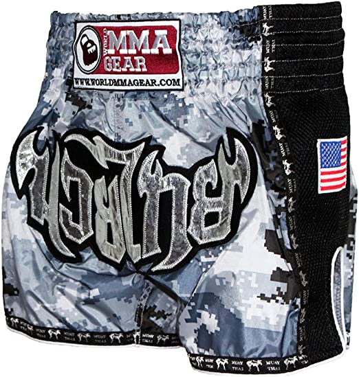 Muay Thai Shorts Camo Camouflage Army By World MMA Gear Brown