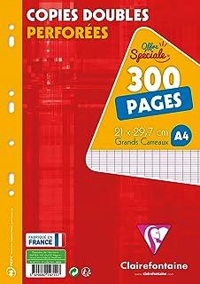 Clairefontaine 11791c - Hojas sueltas (perforadas, cuadriculado, 300 + 200 hojas, incluyendo agenda A4, modelo francés): Amazon.es: Oficina y papelería