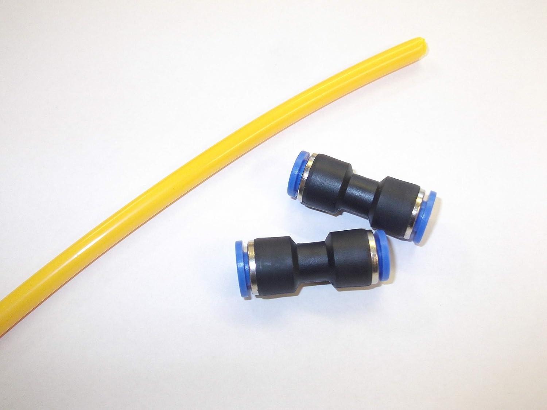 2metre Airline kit de réparation 4mm Connecteurs Joint Raccord Air Suspension Landrover Discovery 2L322