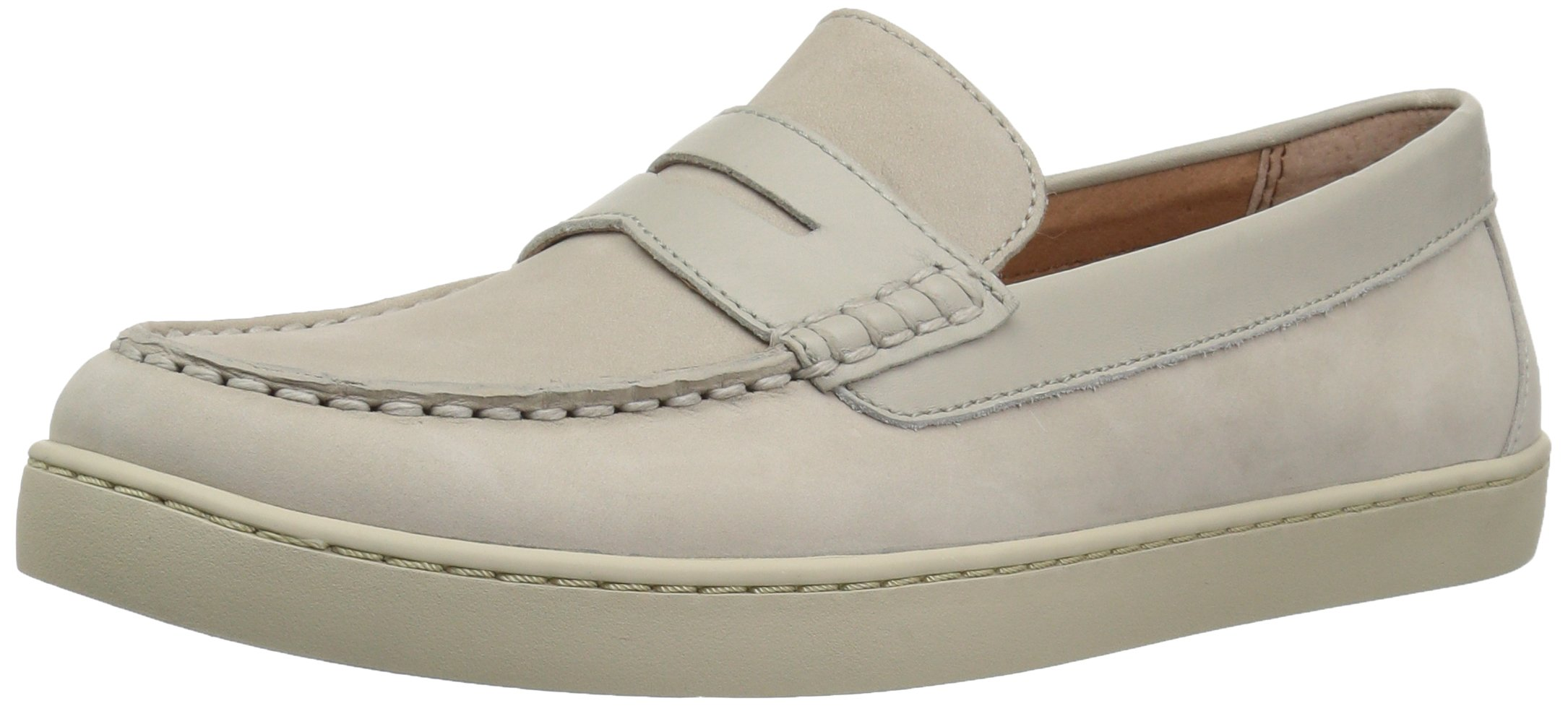 206 Collective Men's Seabeck Boat/Penny Loafer on Cupsole Sneaker, Beige Nubuck, 13.5 D US