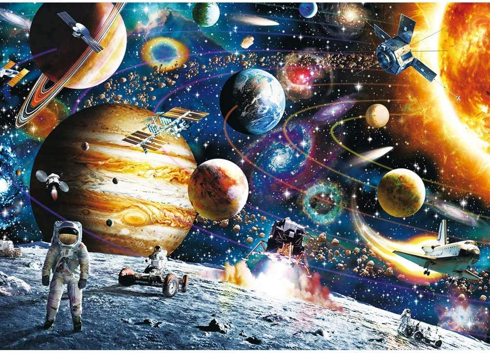 Space Traveler Jigsaw Puzzles for Family Friends Puzzles for Adults 1000 Piece