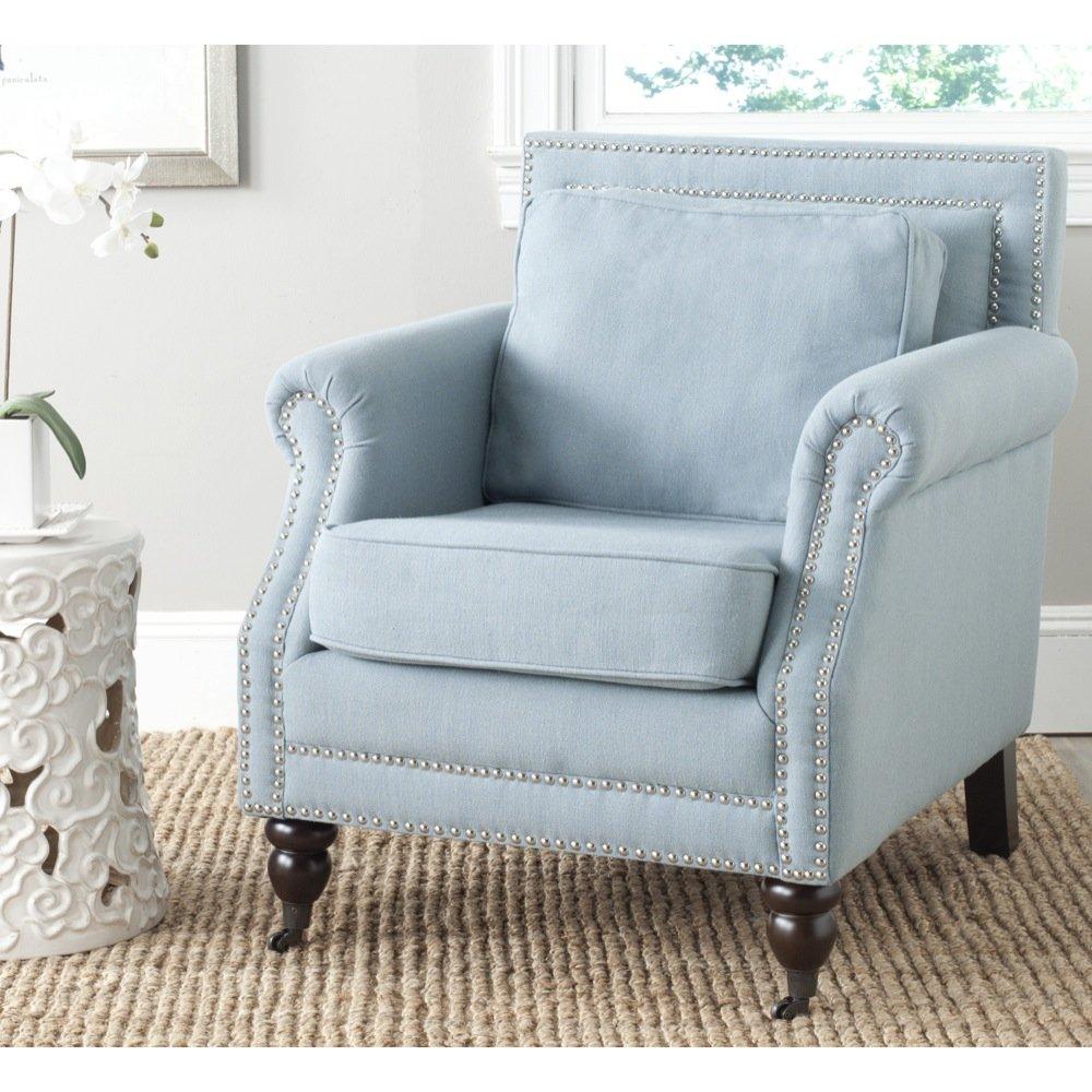 Amazon.com: Safavieh Mercer Collection Karsen Club Chair, Sky Blue: Kitchen  U0026 Dining