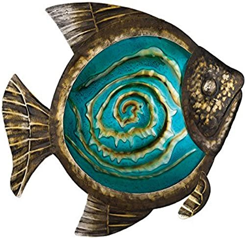 Regal Art Gift Bronze Fish Wall Decor, 17-Inch